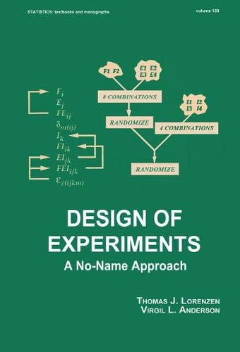 9780824790776: Design of Experiments: A No-Name Approach (Statistics: A Series of Textbooks and Monographs)