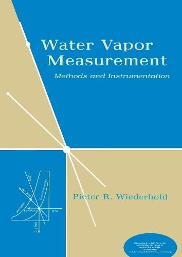 9780824793197: Water Vapor Measurement: Methods and Instrumentation