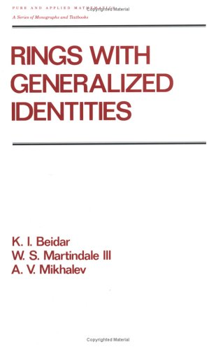 9780824793258: Rings with Generalized Identities (Chapman & Hall Pure and Applied Mathematics)