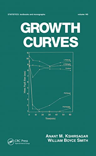 Growth Curves (Statistics:  A Series of Textbooks and Monographs) (0824793412) by Kshirsagar, Anant; Smith, William