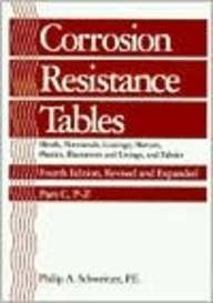9780824796419: Corrosion Resistance Tables: Metals, Nonmetals, Coatings, Mortars, Plastics, Elastomers, and Linings and Fabrics; Fourth Edition, Revised and Expanded Part C: P-Z (Of Three Parts)