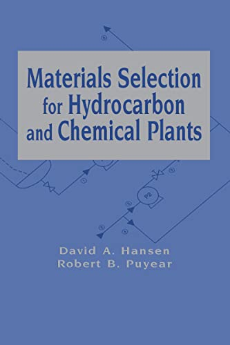 9780824797782: Materials Selection for Hydrocarbon and Chemical Plants