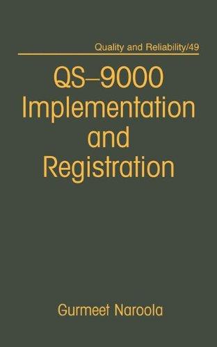 QS-9000 Implementation and Registration: Gurmeet Naroola