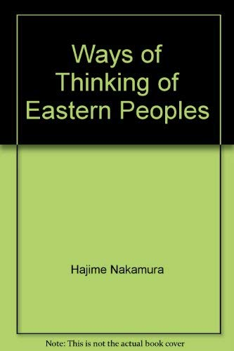 9780824800109: Ways of Thinking of Eastern Peoples [Paperback] by