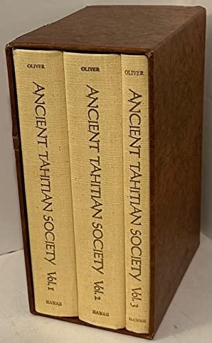 Ancient Tahitian Society (3 Volume Set): Oliver, Douglas L.