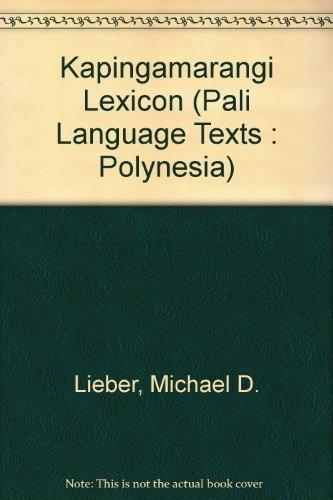9780824803049: Kapingamarangi Lexicon (Pali Language Texts : Polynesia) (English and Austronesian Edition)