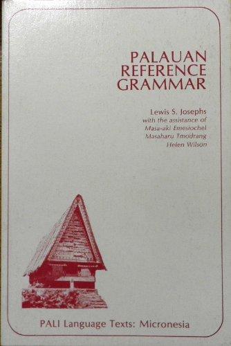 9780824803315: Palauan Reference Grammar (PALI language texts) (English and Pali Edition)