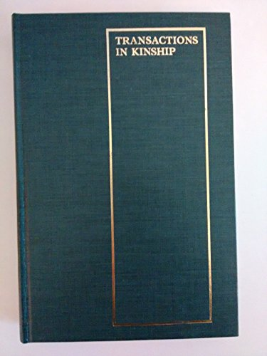 9780824804787: Transactions in Kinship: Adoption and Fosterage in Oceania (ASAO monograph)