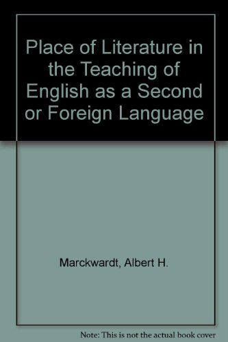 9780824806064: The Place of Literature in the Teaching of English As a Second or Foreign Language