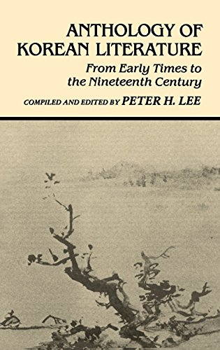 9780824807399: Anthology of Korean Literature: From Early Times to the Nineteenth Century (UNESCO Collection of Representative Works: Japanese Series)