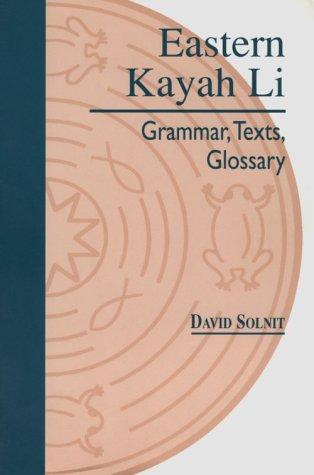 9780824817435: Eastern Kayah Li: Grammar, Texts, Glossary
