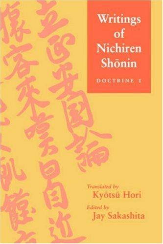 9780824827335: Writings of Nichiren Shonin: Doctrine 1