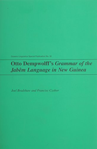 9780824829322: Dempwolff, O: Otto Dempwolff's Grammar of the Jabem Languag (Oceanic Linguistics Special Publication)