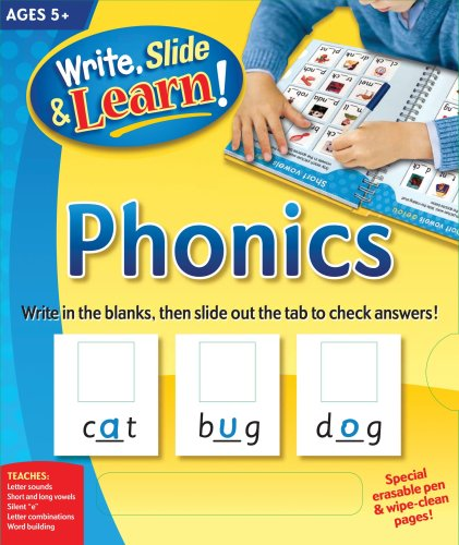 Write, Slide, and Learn!: Phonics (Write, Slide & Learn): Edited