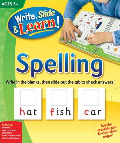 Write, Slide, and Learn!: Spelling (Write, Slide: Edited