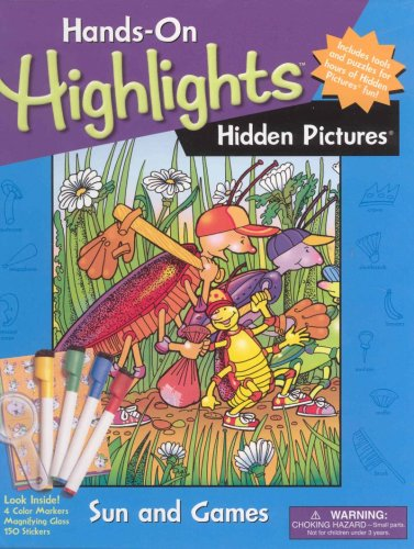 Hidden Pictures: Sun and Games [With 150 Stickers and 4 Color Markers and Magnifying Glass] (...