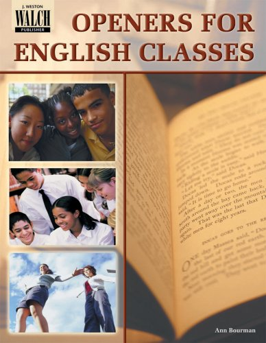 9780825101182: Openers for English Classes