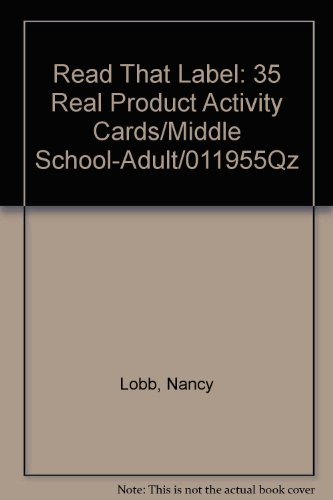 9780825117237: Read That Label: 35 Real Product Activity Cards/Middle School-Adult/011955Qz