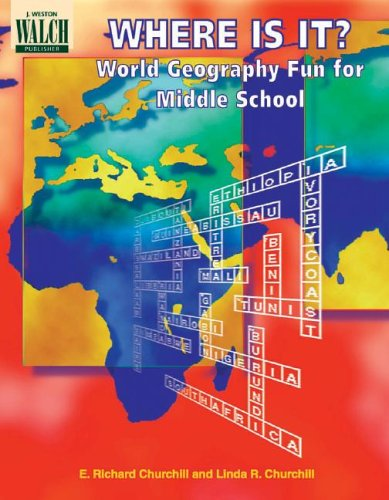 Where Is It World Geography Fun For Middle School Paperback E Richard