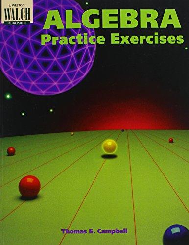 9780825128509: Algebra Practice Exercises, Grades 7-9