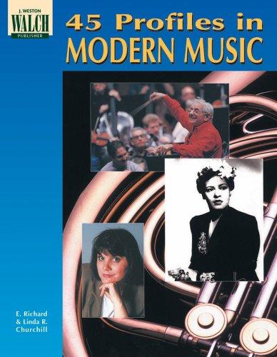 9780825128530: 45 Profiles in Modern Music (Blackline masters)