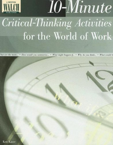 9780825138232: 10-Minute Critical-Thinking Activities for the World of Work