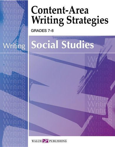 9780825143304: Content-area Writing Strategies For Social Studies: Grade 7-9 (Content-Area Reading, Writing, Vocabulary for Social Studies (7-8))