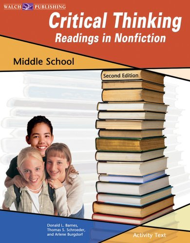 9780825143472: Critical Thinking: Readings in Non-Fiction Middle School