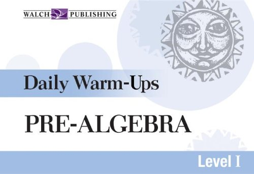 Daily Warm-ups For Pre-algebra (Daily Warm-Ups Math Series Ser): Hope Martin