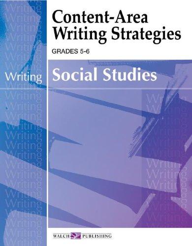 9780825145797: Content-Area Writing Strategies Grades 5-6 - Social Studies (Writing) (Content-Area Reading, Writing, Vocabulary for Social Studies (5-6))