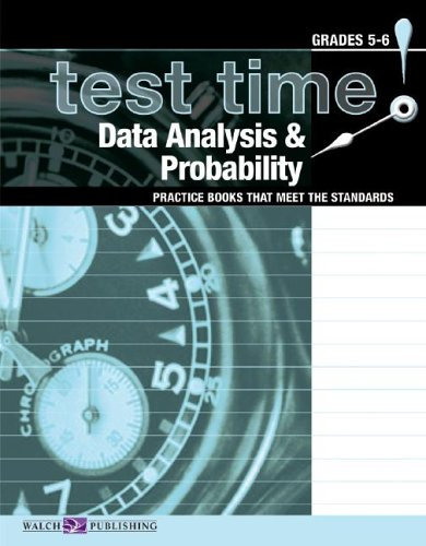 9780825150296: Test Time! Data Analysis & Probability, Grades 5-6 (Practice Books That Meet The Standards)