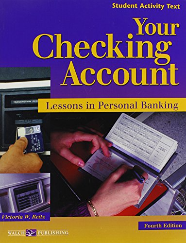 9780825159121: Your Checking Account: Lessons in Personal Banking