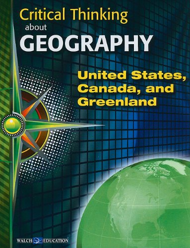 9780825165948: Critical Thinking about Geography: United States, Canada and Greenland