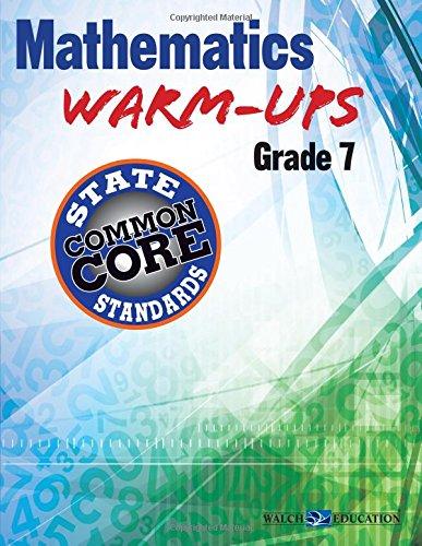 9780825171482: Mathematics Warm-Ups for CCSS, Grade 7