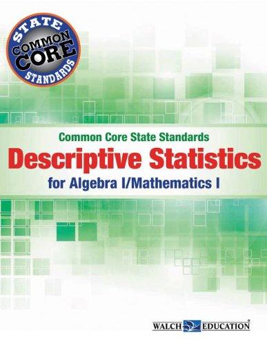 9780825172199: Common Core SS Descriptive Statistics Algebra