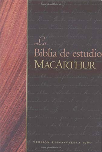 9780825415326: La Biblia de Estudio MacArthur-RV 1960 = MacArthur Study Bible-RV 1960