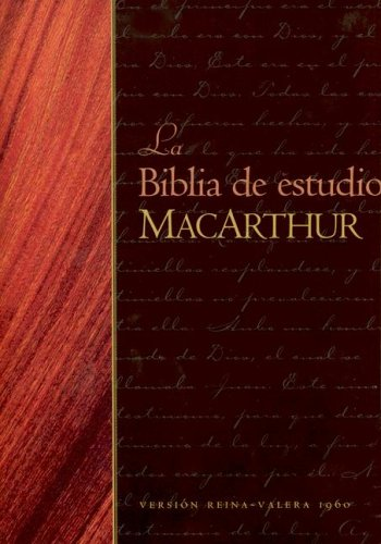9780825415364: La Biblia de Estudio MacArthur-RV 1960 = MacArthur Study Bible-RV 1960