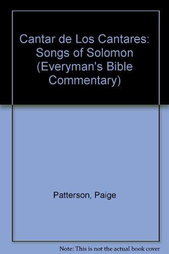 9780825415500: Cantar De Los Cantares: Songs of Solomon (Comentario Bíblico Portavoz)