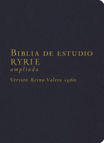 9780825418211: Biblia de estudio Ryrie/Ryrie Study Bible: Version Reina-valera 1960, Negro, Imitacion Piel, Ampliada