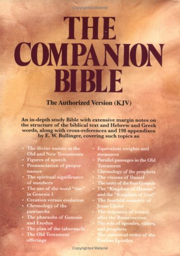 Companion Bible (Black)Bonded Leather-Indexed: Bonded Leather: E W Bulling