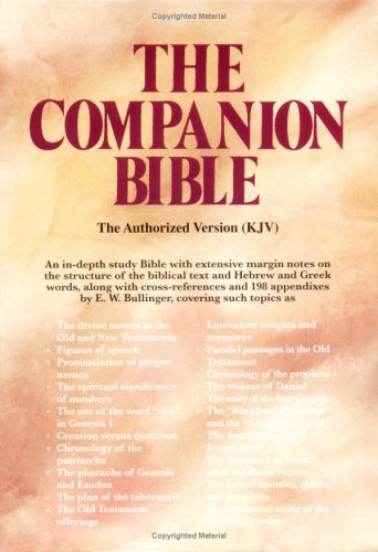 9780825421792: The Companion Bible: King James Version Burgundy Bonded Leather