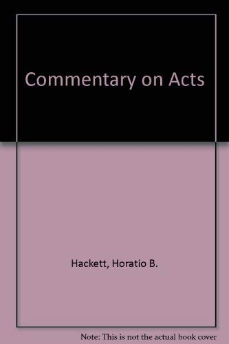 Commentary on Acts: Hackett, Horatio B.