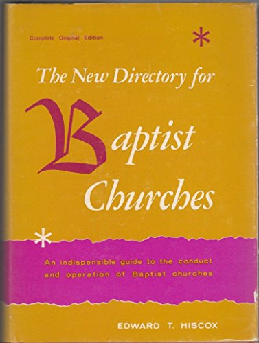 9780825428111: The new directory for Baptist churches