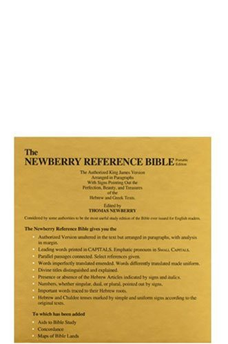 9780825432996: The Newberry Reference Bible, Black