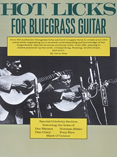 Hot Licks for Bluegrass Guitar (Paperback): Orrin Star