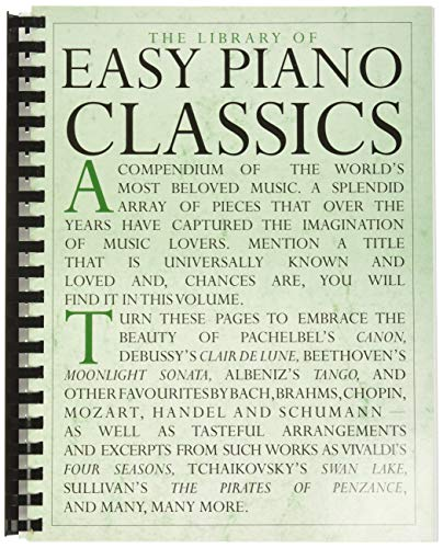 9780825612848: The Library of Easy Piano Classics