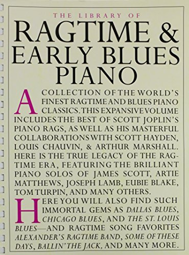9780825614583: Library of Ragtime and Early Blues Piano (Library of Series)