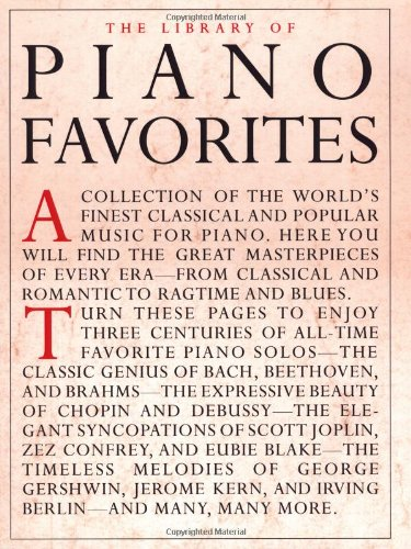 9780825616136: The Library of Piano Favorites