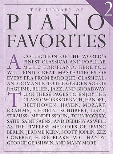 9780825618260: The Library of Piano Favorites 2 (Library of Series)