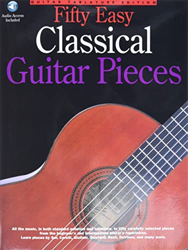 9780825628276: 50 Easy Classical Guitar Pieces (Music Sales America)